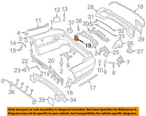 Mercedes-MERCEDES-BENZ-OEM-E350-Rear-Bumper-Tow-Hook-Eye-Cap-Cover-2128850356
