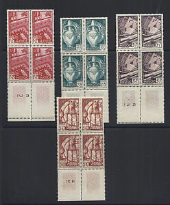 FRENCH MOROCCO 1950 semi postals (B44-47) VF MNH blks/4
