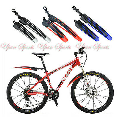 MTB Bike Bicycle Front Rear Mudguard Fender Easy Install Mud Guard Set 3 colors
