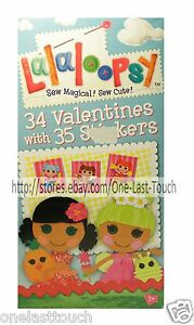 Lalaloopsy 34 Cards Stickers Valentines Day Fun Designs Classroom