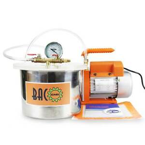 BACOENG 15 Gallon Vacuum Chamber Kit with 25CFM 1 Stage Degassing Pump HVAC - <span itemprop=availableAtOrFrom>London, United Kingdom</span> - BACOENG 15 Gallon Vacuum Chamber Kit with 25CFM 1 Stage Degassing Pump HVAC - London, United Kingdom