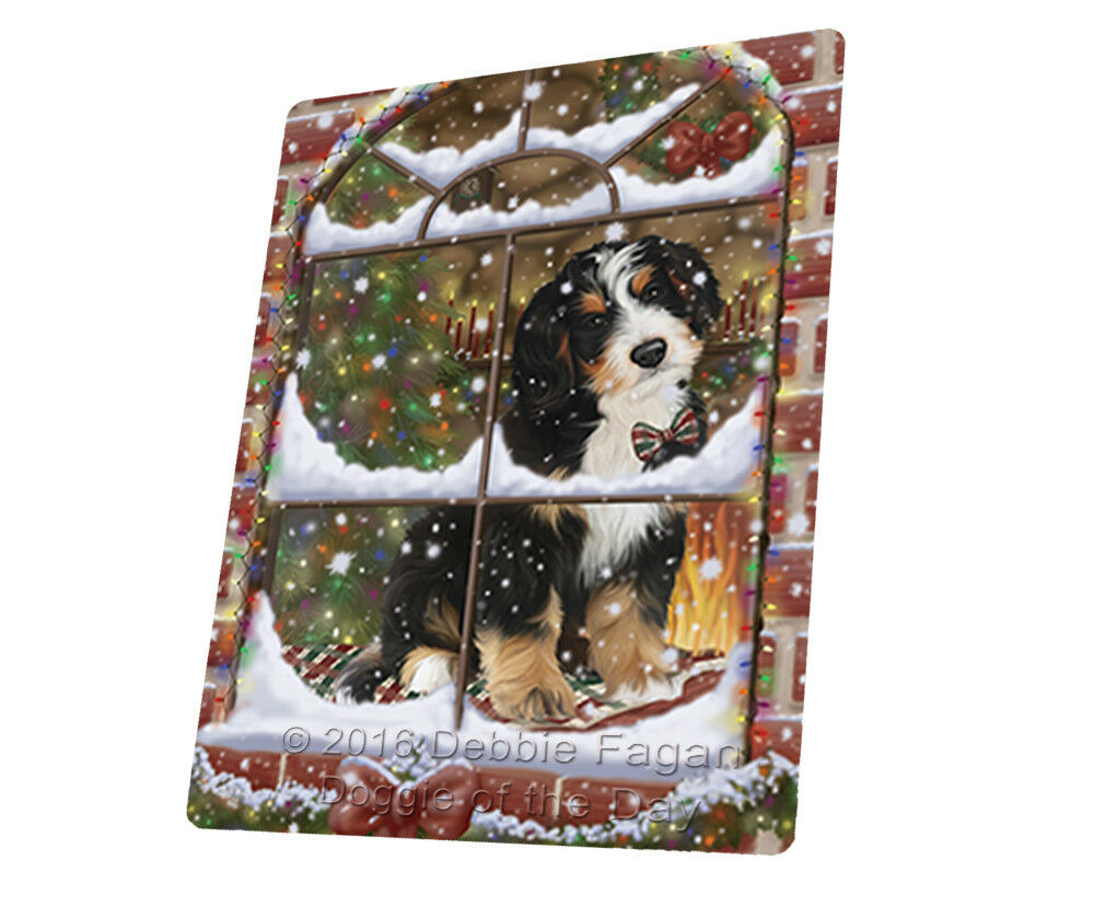 Please Come Home For Christmas Bernedoodle Woven Throw Sherpa Blanket T327