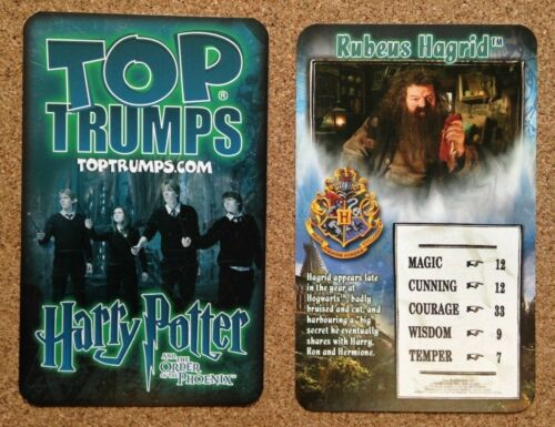 FB3 Various Characters Top Trumps Single Card Harry Potter Order Of Phoenix