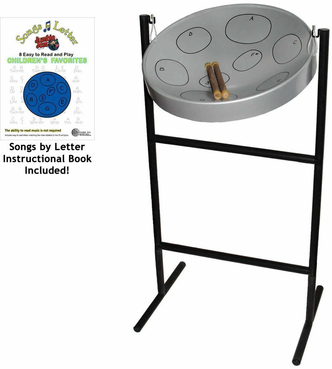 Jumbie Jam Steel Pan Drum + Full Stand Mallets Case Book by Panyard