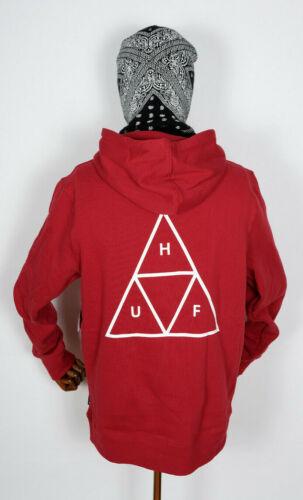 Huf Worldwide Sweatshirt Hooded Pullover Hoodie Triple Triangle Rio Red in M