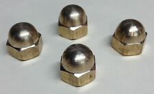 4 YAMAHA XS650 BRASS ACORN EXHAUST NUTS pipes cafe xs 650 chopper bobber 10mm