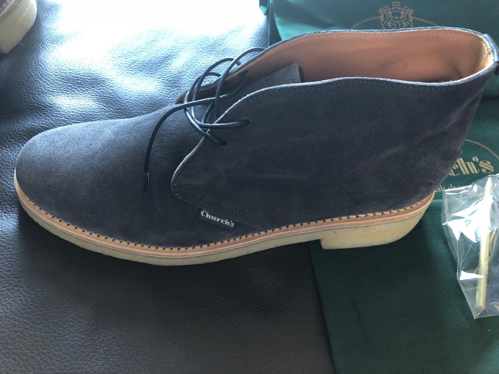 Church's Schuhe, Desert Stiefel für Damen, Ungetragen, Größe 38, Dunkelgrau