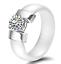Indexbild 7 - KERAMIK Ring STRASS silber gold Fingerring weiß schwarz LUXUS +++ AUSWAHL
