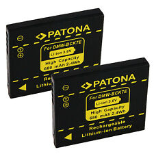 2x Batteria alta qualità Patona 850mah li-ion per Canon EOS 450D,EOS 500D