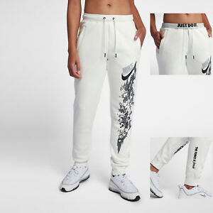 newest style of quality quite nice Details about Nike NSW Women's The Force Is Female Joggers L XL Summit  White Floal Sweatpants