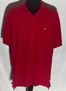 Brooks-Brothers-Performance-Polo-Original-Fit-Logo-Size-XL-Solid-Red-Polo-Shirt