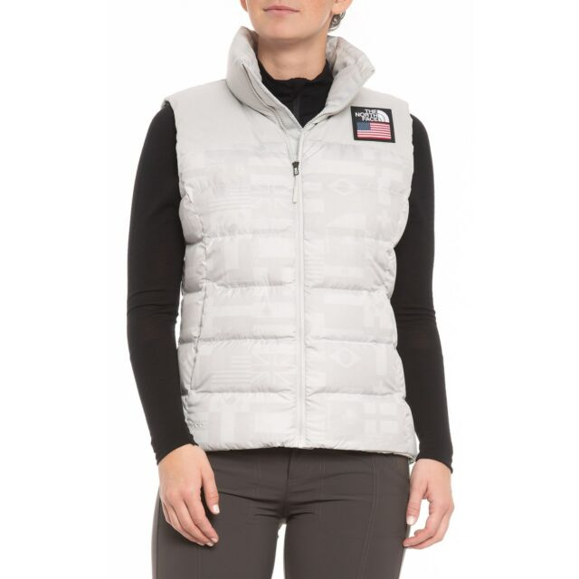d3c1a19353 North Face IC Nuptse Vest High Rise Grey Flag Print International ...