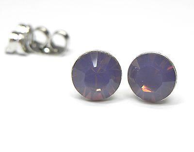 Obliging Neu Titan Ohrstecker 6mm Swarovski Steine Cyclamen Opal/lila-rosa Ohrringe Jewelry & Watches
