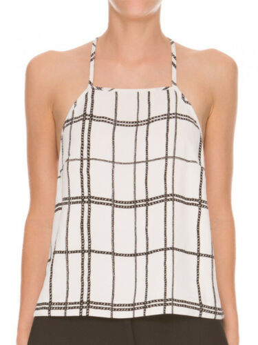 T Print Chain Ivory Top Camisole Loose Black Bar meo Cameo Borderline C qUn47YX00