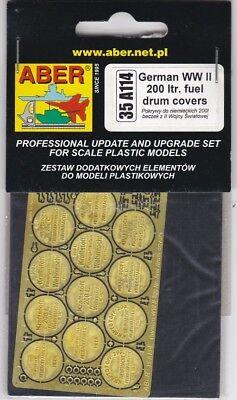 Aber 35a114 - German Wwii 200 Ltr. Fuel Drum Covers - 1/35 Photoetched Regalo Ideale Per Tutte Le Occasioni