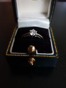Vintage-9ct-oro-blanco-solido-solitario-diamante-anillo-0-33ct-1-2-K
