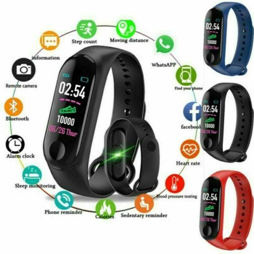 Smart-Watch Blood Pressure Heart Rate Monitor Wristband Bracelet For Android iOS