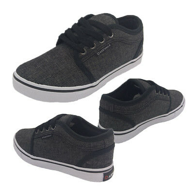 Boys Shoes Bolt Theo Casual Lace Up Skate Shoe Navy with Grey Trim Size 13-5