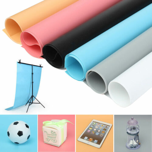 26''×51''/68x130cm Photography Backdrop Matte PVC Color Waterproof Background