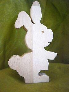 Hase 1 Aus Holz Dekoration Ostern Frühling Lustig Ebay