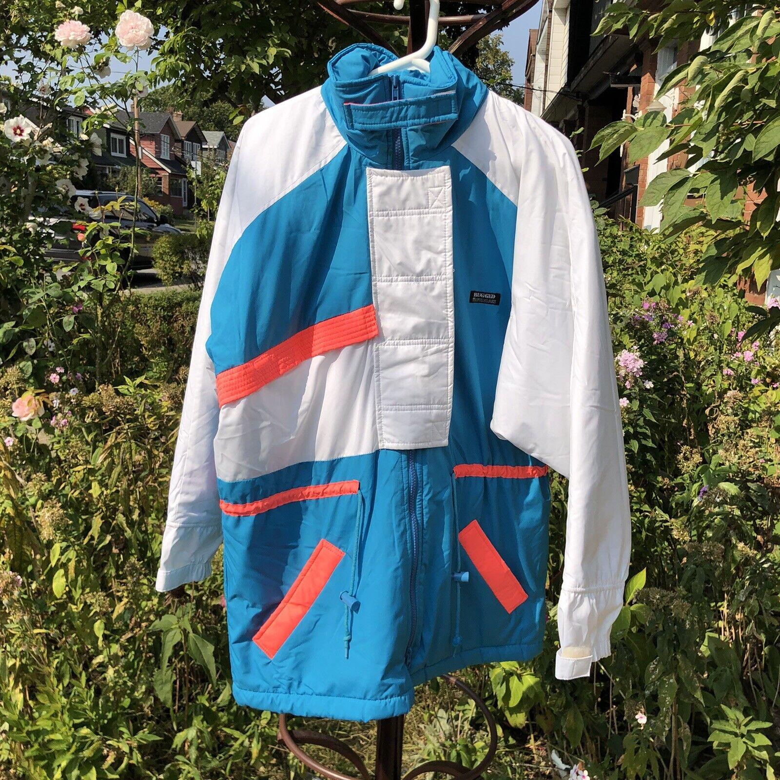 Vintage 90s Ski Multi-color Color Block Jacket Co… - image 2