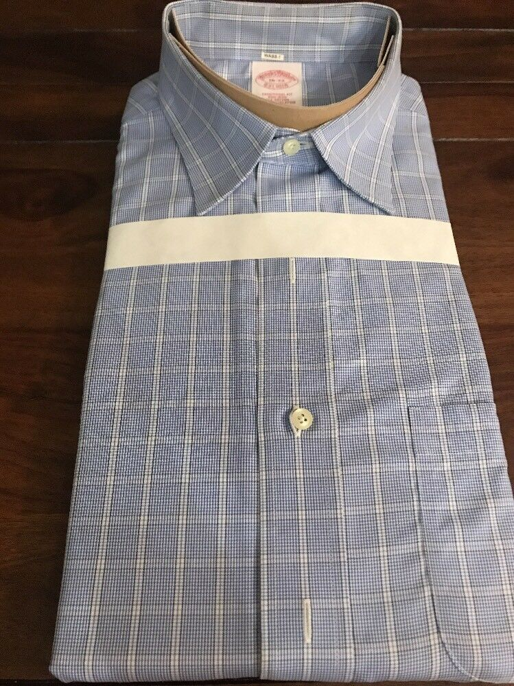 Men's Brooks Bredhers Traditional Fit Pattern Shirt, Non-iron - Size 16 - 33