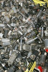 Mixed-Lot-50-COOL-Old-Vintage-Vacuum-Radio-Tubes-for-Crafts-Steampunk-Jewelry