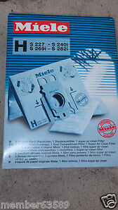 Miele Type Z Vacuum Cleaner Bags M. Nr. 5294741 4 Bags And Filter