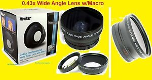0-43x-Wide-Angle-LENS-67mm-AptTo-SONY-FUJI-PANASONIC-NIKON-CANON-OLYMPUS-DCR-R1