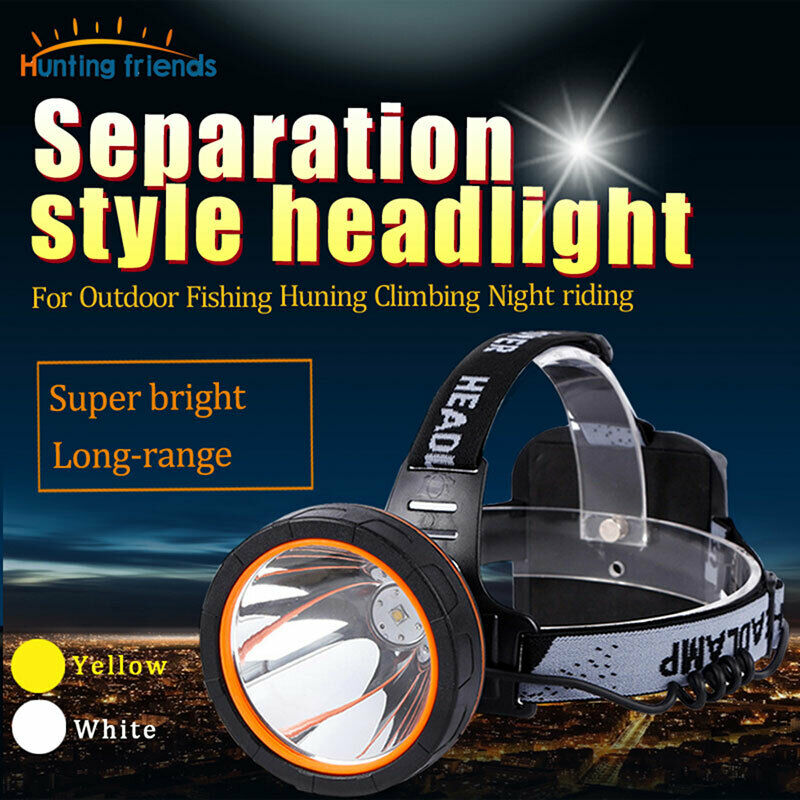LED Headlamp Rechargeable Head Lamp Waterproof Headlight Separation Style Light