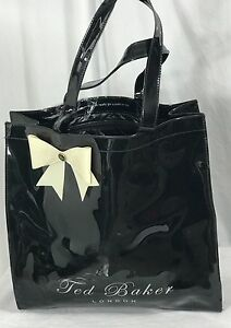 Ted Baker London Icon Bow Black Plastic Tote