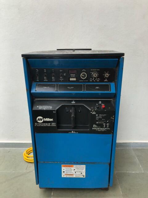 Miller Syncrowave 351 Ac Dc Tig Welding Machine 200 230 460 V 1 Phase 350 Amps For Sale Online