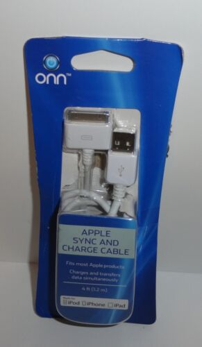 ONN Apple Sync and Charge Cable 4ft for iPod,iPhone,iPad