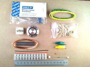Choccy Block Crystal Set Radio Kit Of Electronic Parts