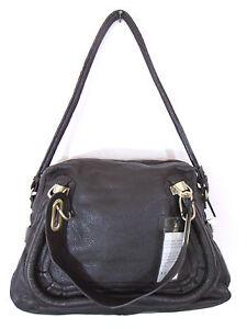 Image Is Loading Besso Brown Leather Luxury Italian Shoulder Bag Handbag