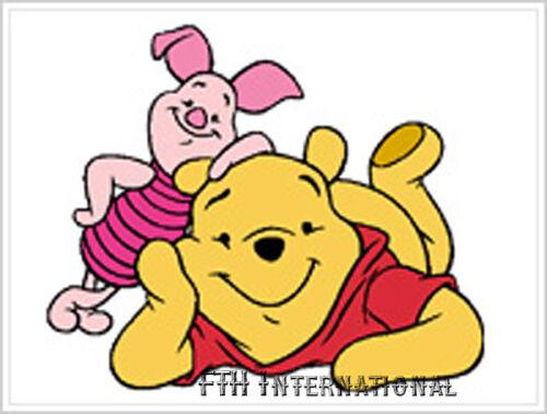 "1/"" x 1.5/"" Hello ~ Pooh /& Piglet Disney Wood Mount Rubber Stamp #199E03"