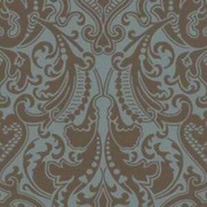 Details About Double Roll Of Ralph Lauren Wallpaper R 134 Per Dbl Roll Gwynne Damask Peacock