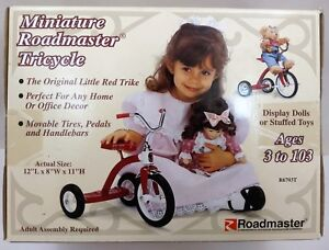 New-Vintage-Miniature-12-034-Roadmaster-Childs-Toy-Tricycle-Display-Doll-Teddy-Bear