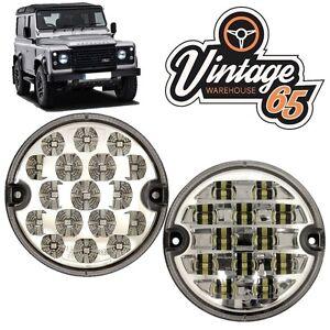 Details about Land Rover Defender 95mm LED Clear Rear Fog Lamp Reversing  Light Upgrade Kit