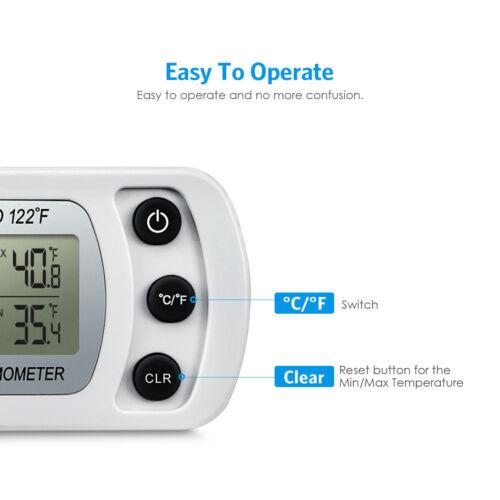 2PCS Refrigerator Alarm Thermometer Digital Wireless Fridge Freezer Temperature多