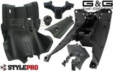 Kompletter Innenraum Verkleidung 6 Teilig Schwarz Matt Yamaha Aerox MBK Nitro