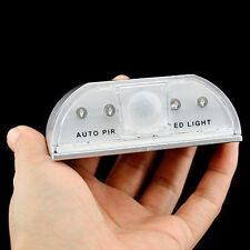4LED IR Sensor Light Auto PIR Infrared Wireless Keyhole Motion Detection US