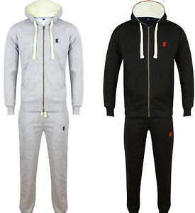 NEW-MENS-POLO-TRACKSUIT-SET-FLEECE-HOODIE-JOGGING-BOTTOMS-JOGGERS-WARM-TRACKIES