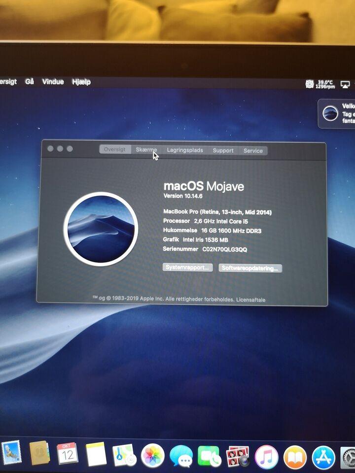 MacBook Pro, A1502, 2,6 GHz