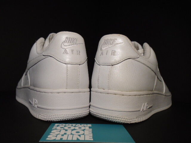 2006 NIKE AIR FORCE 1 PREMIUM '07 LEATHER LEATHER LEATHER PEARL bianca 315180-111 NEW 11 492cb4