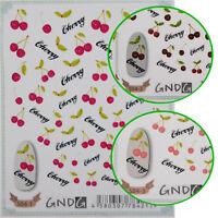 1 Sheet DIY 3D Nail Art Sticker Colorful Cherry Nail Decal Manicure Nail Tips