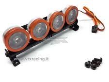 BARRA LUMINOSA 4 LED BIANCHI IN METALLO ATT. FUTABA VRX T983W X 1-8 1-10 1-16