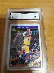 2018-19-Donruss-Optic-94-LeBron-James-Los-Angeles-Lakers-GMA-9-MINT