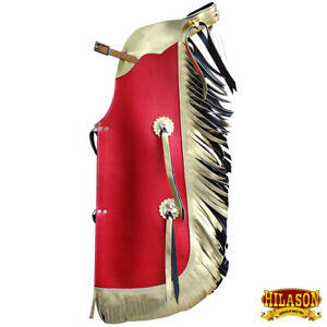 Hilason Western Leather Kids Junior Youth Pro Rodeo Bull Riding Chaps U-870Y
