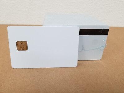 Black 10pcs SLE4442 with 2 Track Hi co Magnetic Stripe Composite PVC Card
